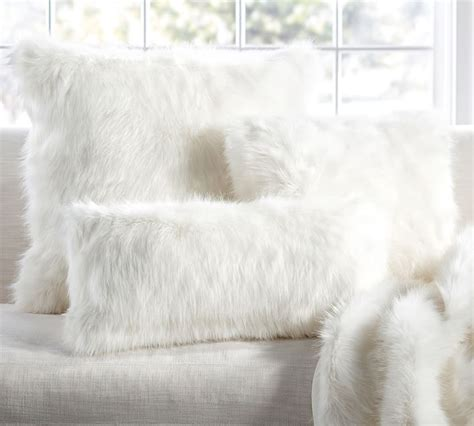 White Faux Fur Pillow by The Designer Look For Less Trendy Decor On A Budget