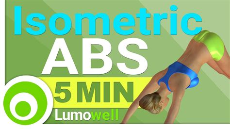 isometric abs workout  minute core exercises youtube