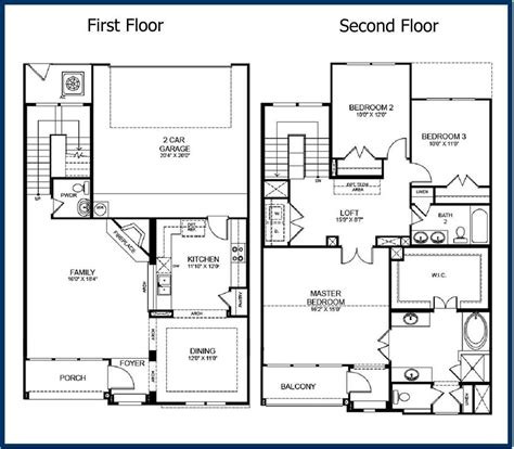 two story home plans two story house plans with open floor plan rooms in small