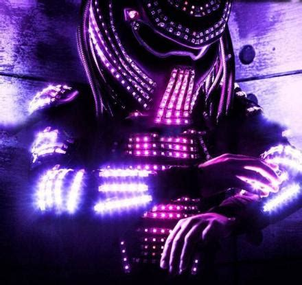 controllable lights light up led predator costume controllable via wi fi