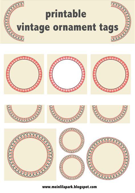 printable ornament tags free printable vintage ornament circle tags audruckbare