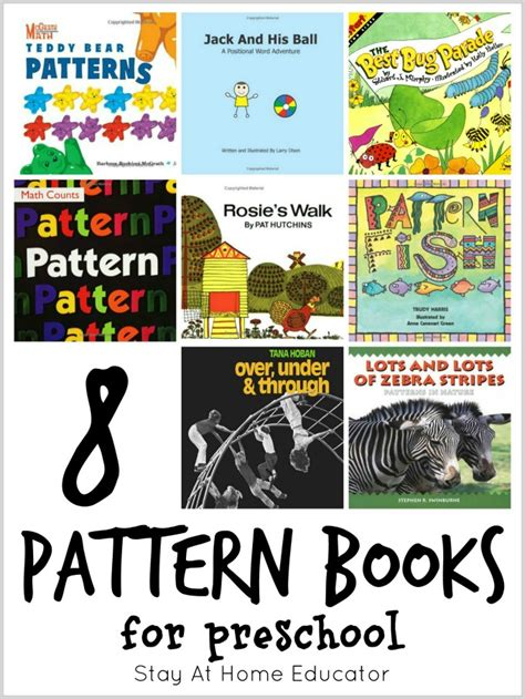 reading pattern books kindergarten 8 pattern books for preschool plus 64 other math picture