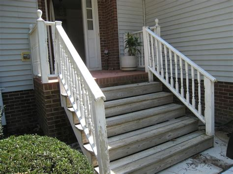 Wooden Front Stairs Design Ideas Front Porch Front Porch Design Idea With Gray Siding Wall Combine With Brick Floor And White
