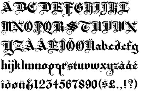 old tattoo font generator old english lettering generator letters font