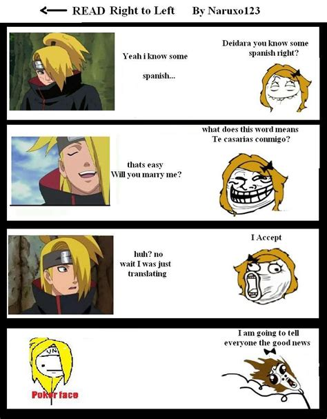 Meme Comic Anime - my deidara meme comic by naruxo123