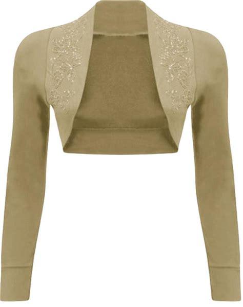 Bolero Cardigan new womens sleeve beaded sequin design bolero shrug cardigan tops 4 22 ebay