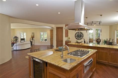 center island kitchen designs touches of montclair contemporary will awe and inspire prospective buyers stove sinks