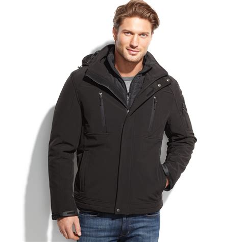 Vanya Ziper Black 3in1 lyst calvin klein 3in1 systems softshell jacket in black for