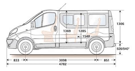 Vauxhall Vivaro Length Minibus Dimensions Seating Layouts Common Uk Specific
