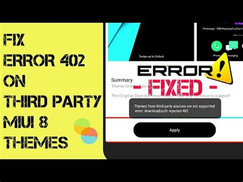 Miui Themes Without Account | error 402 404 408 fix for third party miui 8 themes