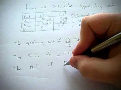 Mba Opportunity Cost Calculator by How To Calculate Opportunity Costs