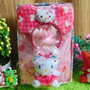 Bando Anak Bayi Balita Hello Bludru Soft kado lahiran paket kado bayi baby gift dress soft pink hello series baju bayi celana bayi