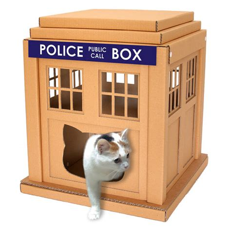 unique cat furniture dr who tardis cardboard cat house unique cat furniture cat cat bed cat cave pet house