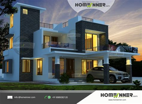 2036 sq ft 4 bedroom luxury home design indianhomedesign