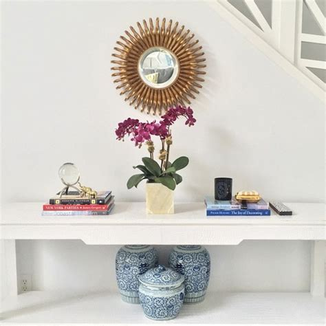 sunburst mirror sofa white console table with gold sunburst mirror