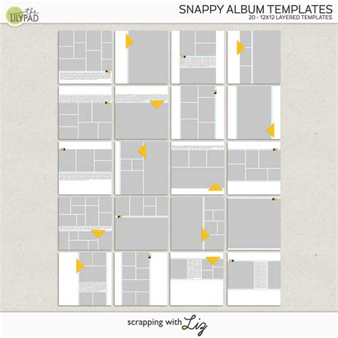 album templates digital scrapbook template snappy album scrapping with liz
