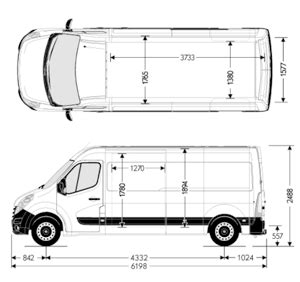 Renault Master Dimensions Dantrans