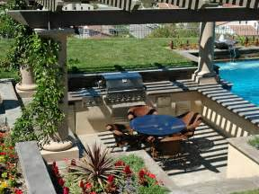 Backyard Designs With Pool And Outdoor Kitchen by Cheap Outdoor Kitchen Ideas Hgtv