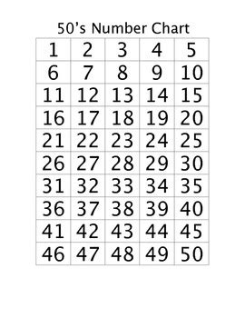 printable number chart 1 to 50 free worksheets library download and print worksheets
