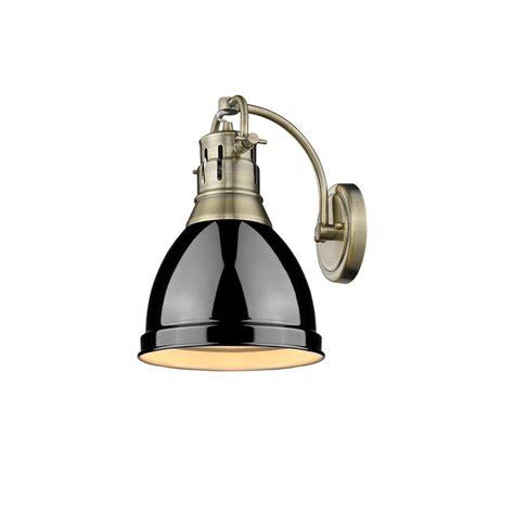 Brass Sconce Lighting Golden Lighting Duncan Ab 1 Light Aged Brass Sconce With