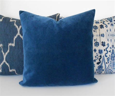 Accent Pillows by Indigo Blue Velvet Decorative Pillow Cover Accent Pillow