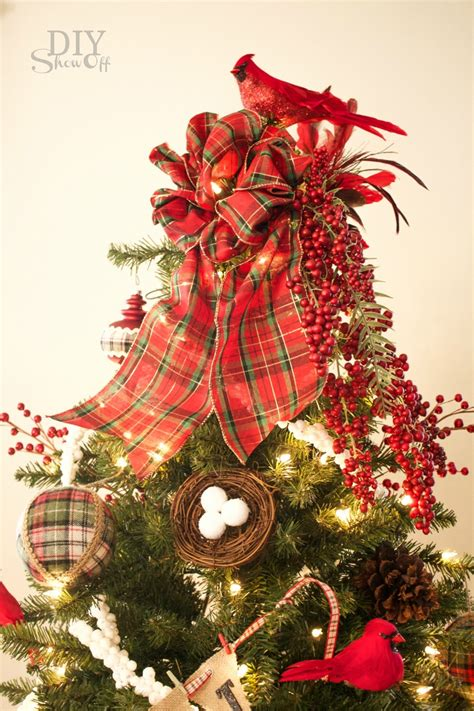 christmas tree with berries birds berries tree tree challengediy show diy decorating