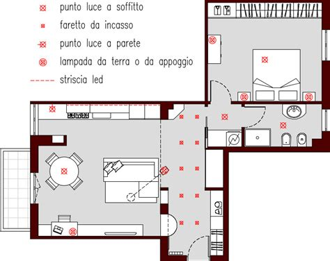 punti luce soggiorno progetto 65 mq architettura a domicilio 174