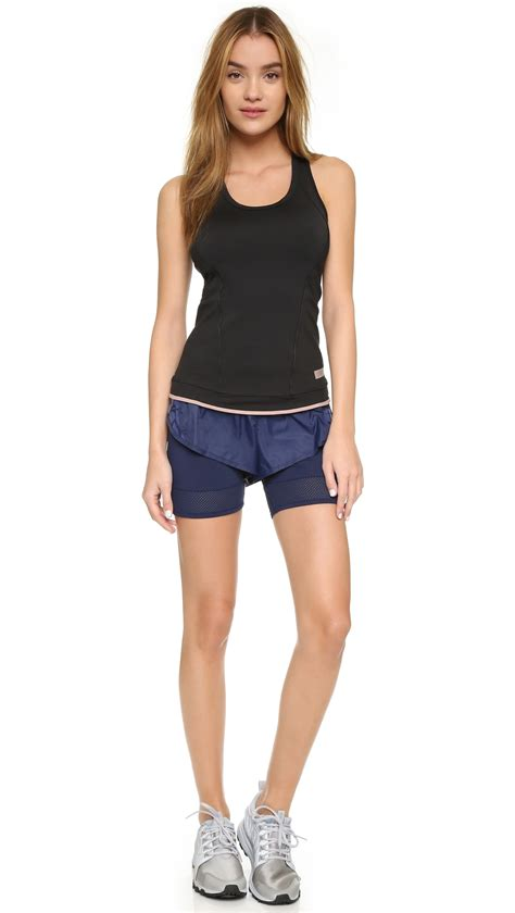 Adidas Stella Mc Cartney Running Shorts 1 adidas by stella mccartney layer running shorts in blue lyst
