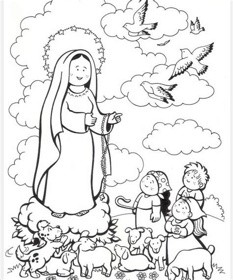 our lady of lourdes coloring page az coloring pages