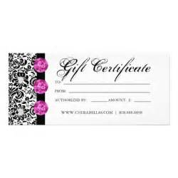 free printable hair salon gift certificate template gift certificates salon spa pink damask jewelry