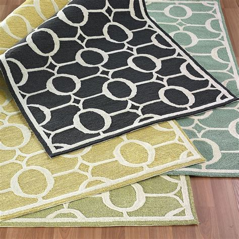indoor outdoor rug runners rivington indoor outdoor rug contemporary rugs by the company store