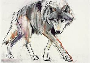 wolf painting wolf painting by adlington