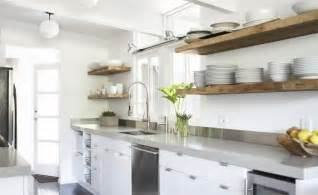 reclaimed wood floating shelves kitchen ideas