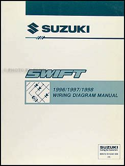 1996 suzuki esteem wiring diagram manual original 1996 1998 suzuki swift wiring diagram manual original