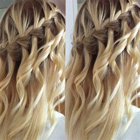 Waterfall Braid & Loose Curls
