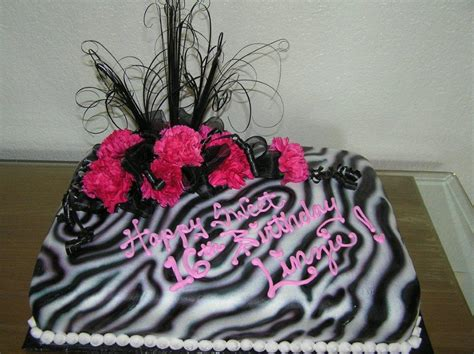 Decorating Ideas Zebra Print Birthday Pink Zebra Cake Cakes On The Move