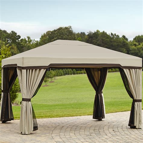 Outdoor Canopies And Gazebos Garden Oasis 10 Ft X 12 Ft Privacy Gazebo Limited
