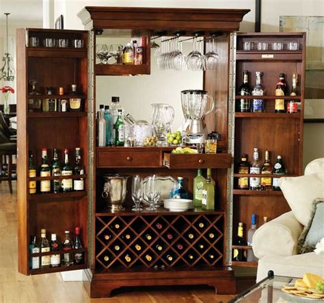 Armoire Whisky by Howard Miller Sonoma In Americana Cherry Home Bar Armoire