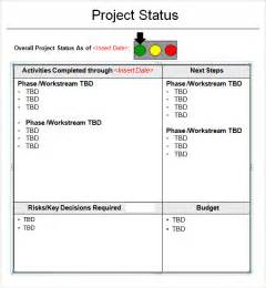 project status reporting template project status report template 8 free