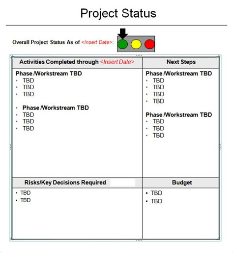 project status report template 8 download free