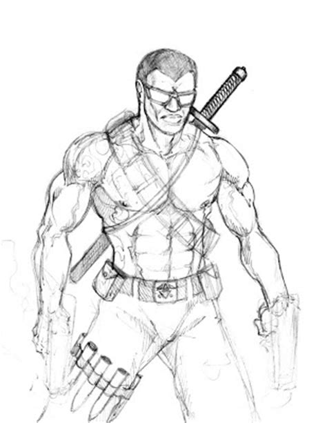 marvel blade coloring pages how to draw hidden blade