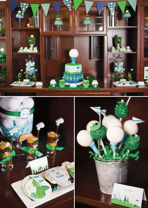 on the green s day golf par hostess with - Golf Themed Decorating Ideas