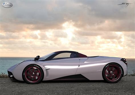 old pagani pagani huayra roadster rendered
