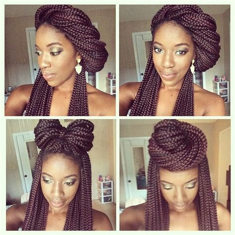 box braidscool styles 13 box braid updo styles you can try after your next