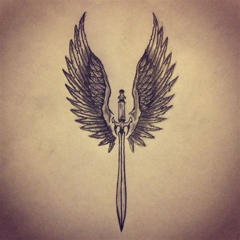 valkyrie wings tattoo wings sword sketches all pieces