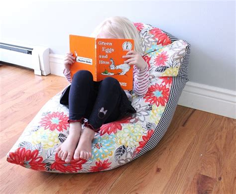 photo bean bag diy simple diy bean bag chair a step by step