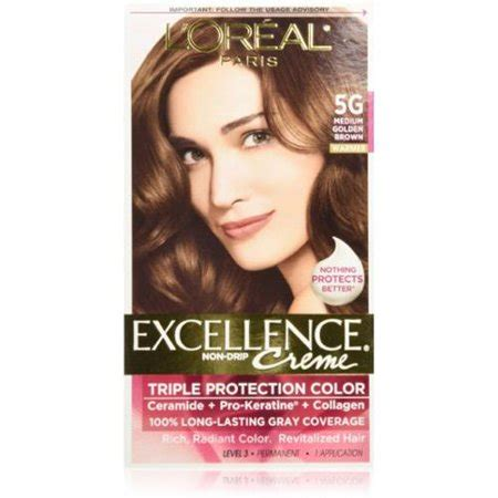 l oreal excellence creme hair colors medium and haircolor l oreal excellence creme haircolor medium golden brown 5g 1 ea pack of 4 walmart