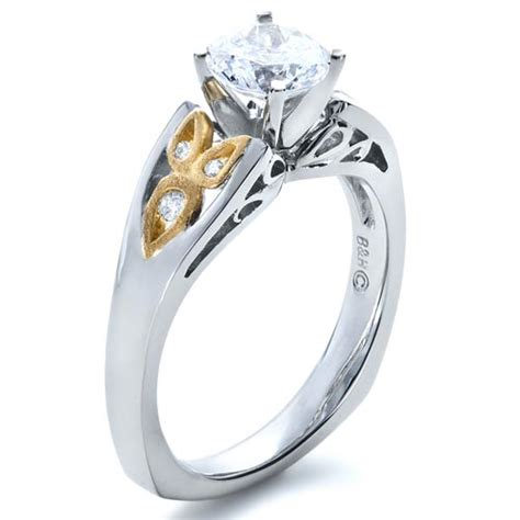 two tone engagement rings two tone diamond engagement ring 1205