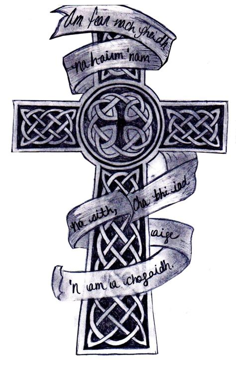cross and banner tattoo designs cross tattoos page 17