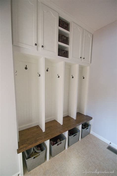 mudroom ideas diy mudroom locker final reveal infarrantly creative